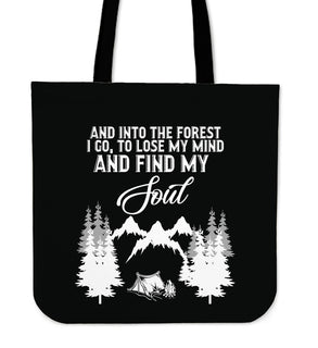 Into The Forest Camping Tote Bags
