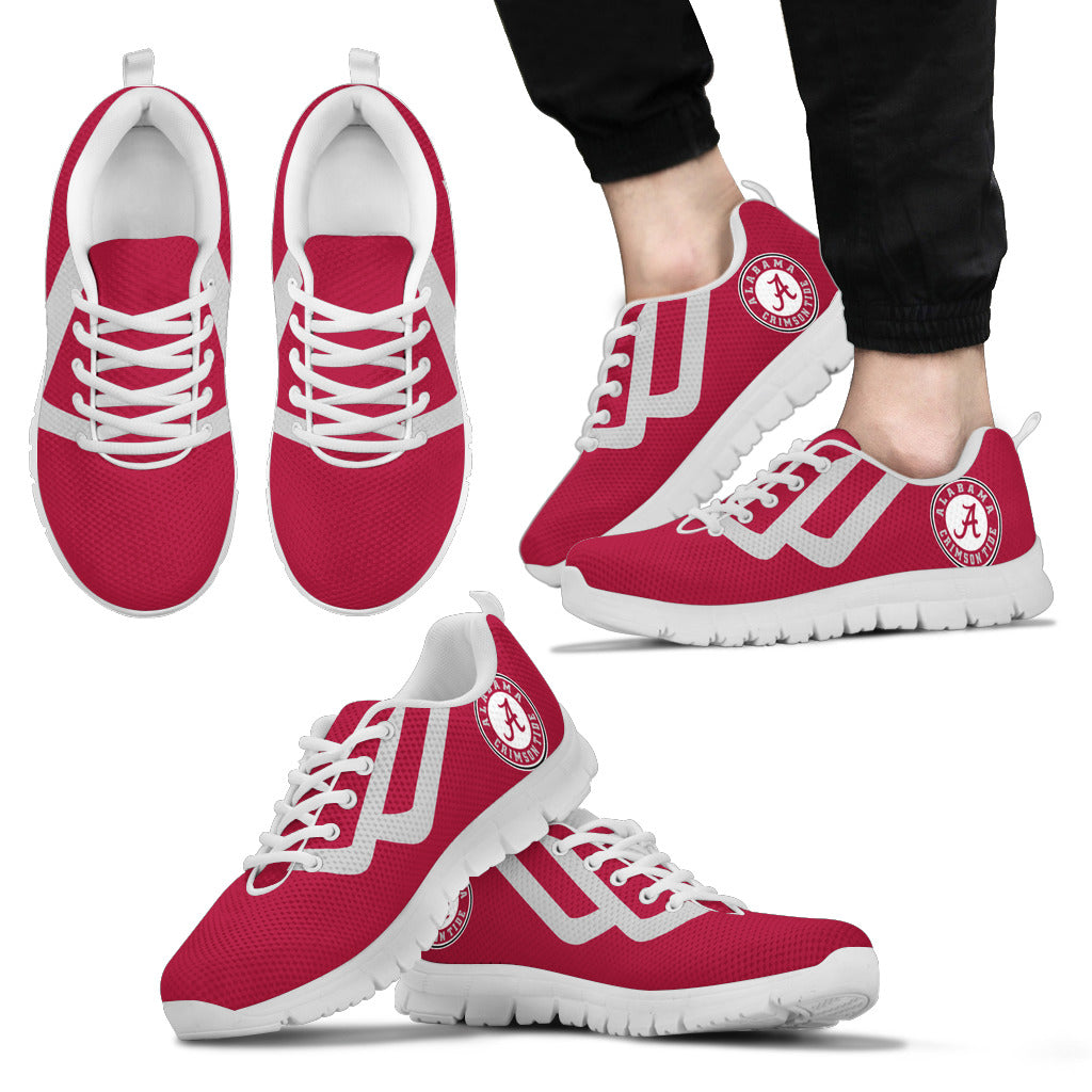 Line Bottom Straight Alabama Crimson Tide Sneakers