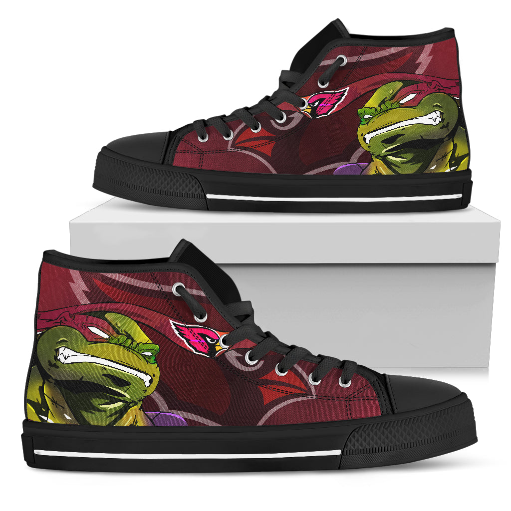 Turtle Arizona Cardinals Ninja High Top Shoes
