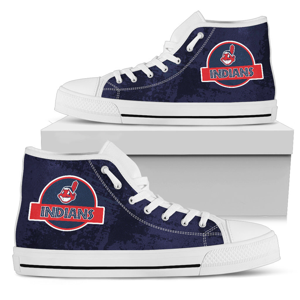 Jurassic Park Cleveland Indians High Top Shoes