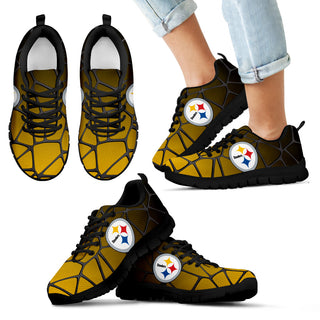 Colors Air Cushion Pittsburgh Steelers Gradient Sneakers