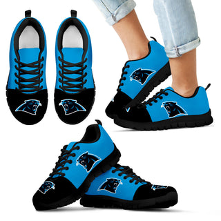 Two Colors Aparted Carolina Panthers Sneakers