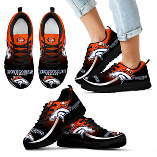 Mystery Straight Line Up Denver Broncos Sneakers