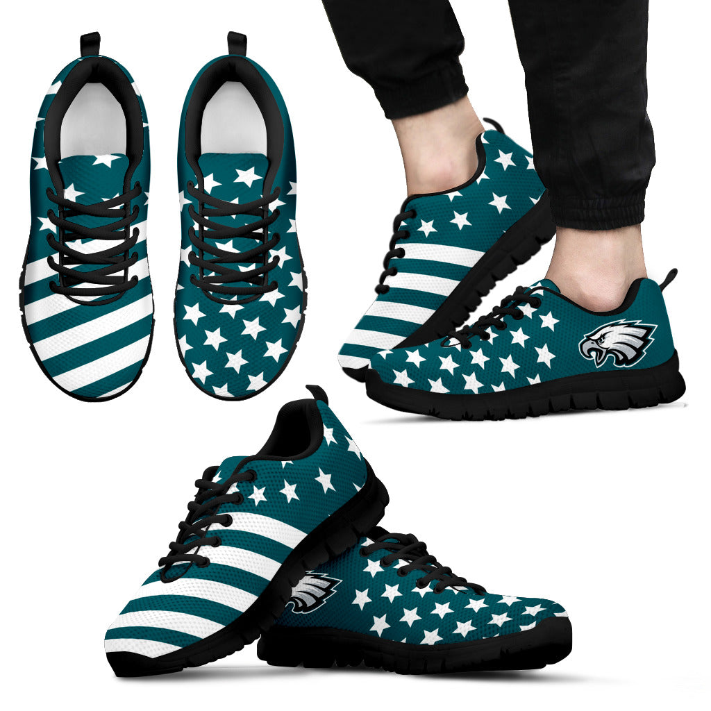America Flag Full Stars Stripes Philadelphia Eagles Sneakers