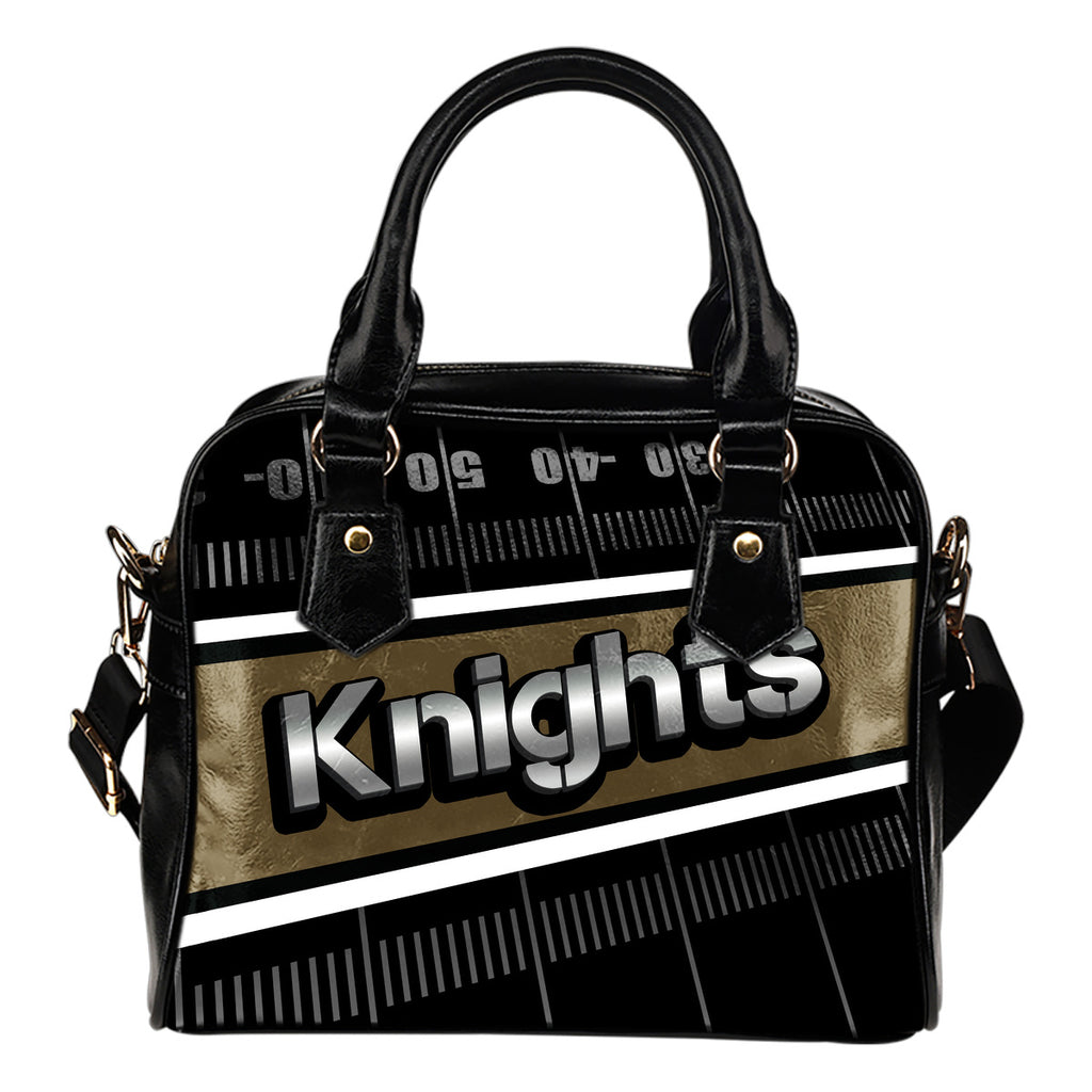 Vegas Golden Knights Silver Name Colorful Shoulder Handbags