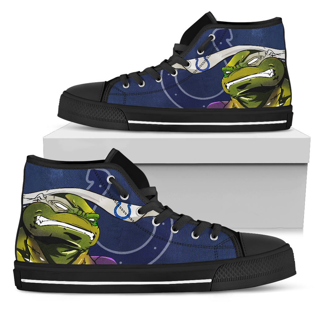 Turtle Indianapolis Colts Ninja High Top Shoes