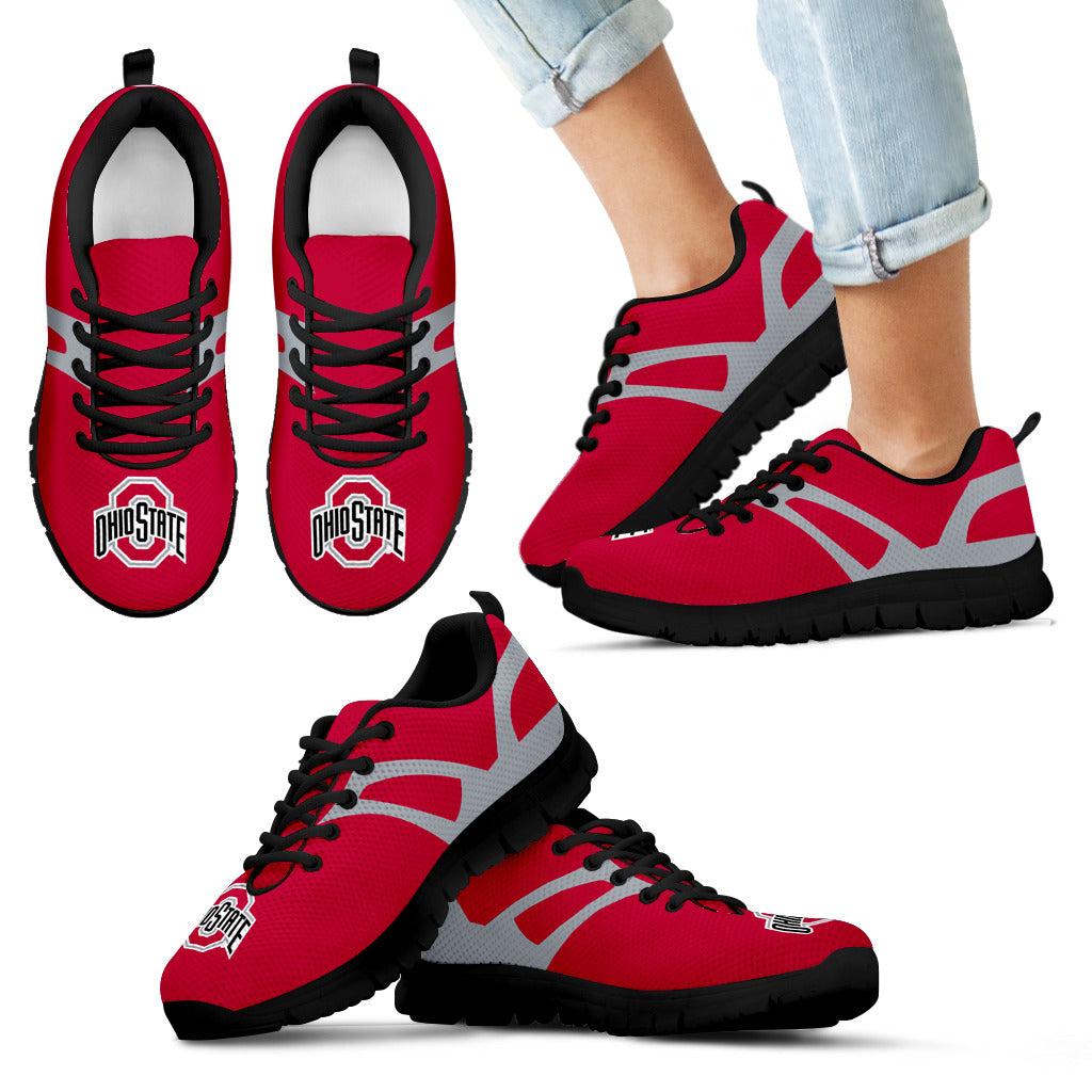 Line Amazing Bottom Ohio State Buckeyes Sneakers
