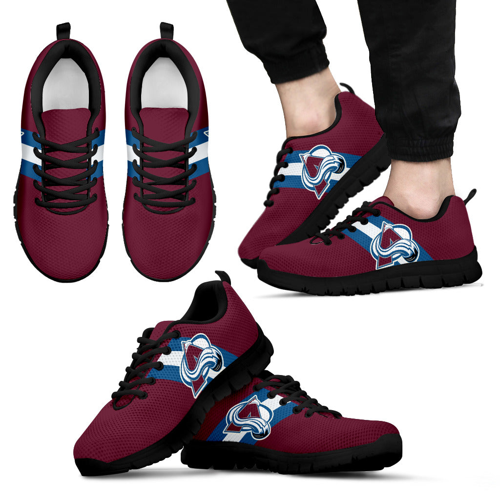 Three Colors Vertical Colorado Avalanche Sneakers