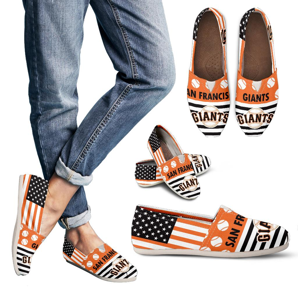 American Flag San Francisco Giants Casual Shoes