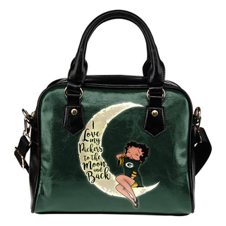 I Love My Green Bay Packers To The Moon And Back Shoulder Handbags - Best Funny Store