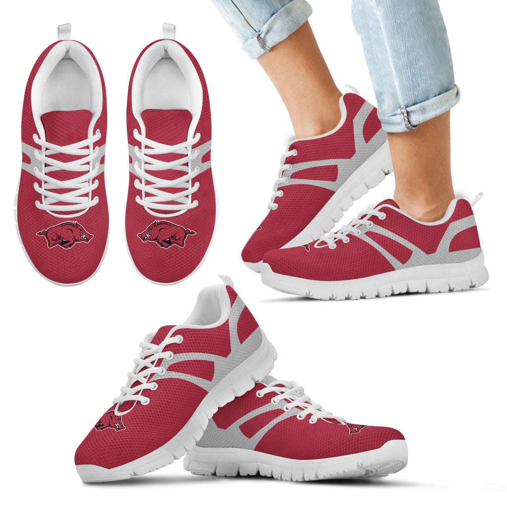 Line Amazing Bottom Arkansas Razorbacks Sneakers