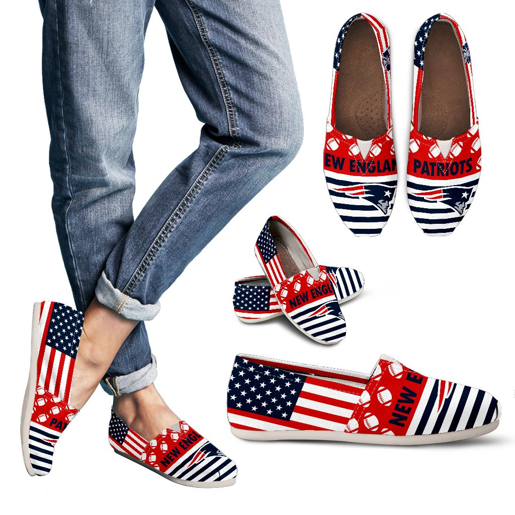 American Flag New England Patriots Casual Shoes