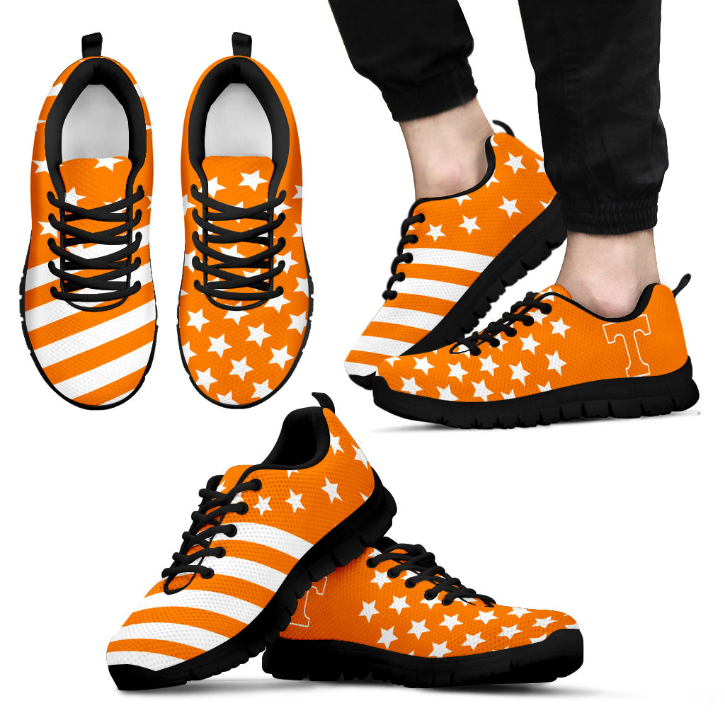 American Flag Full Stars Tennessee Volunteers Sneakers