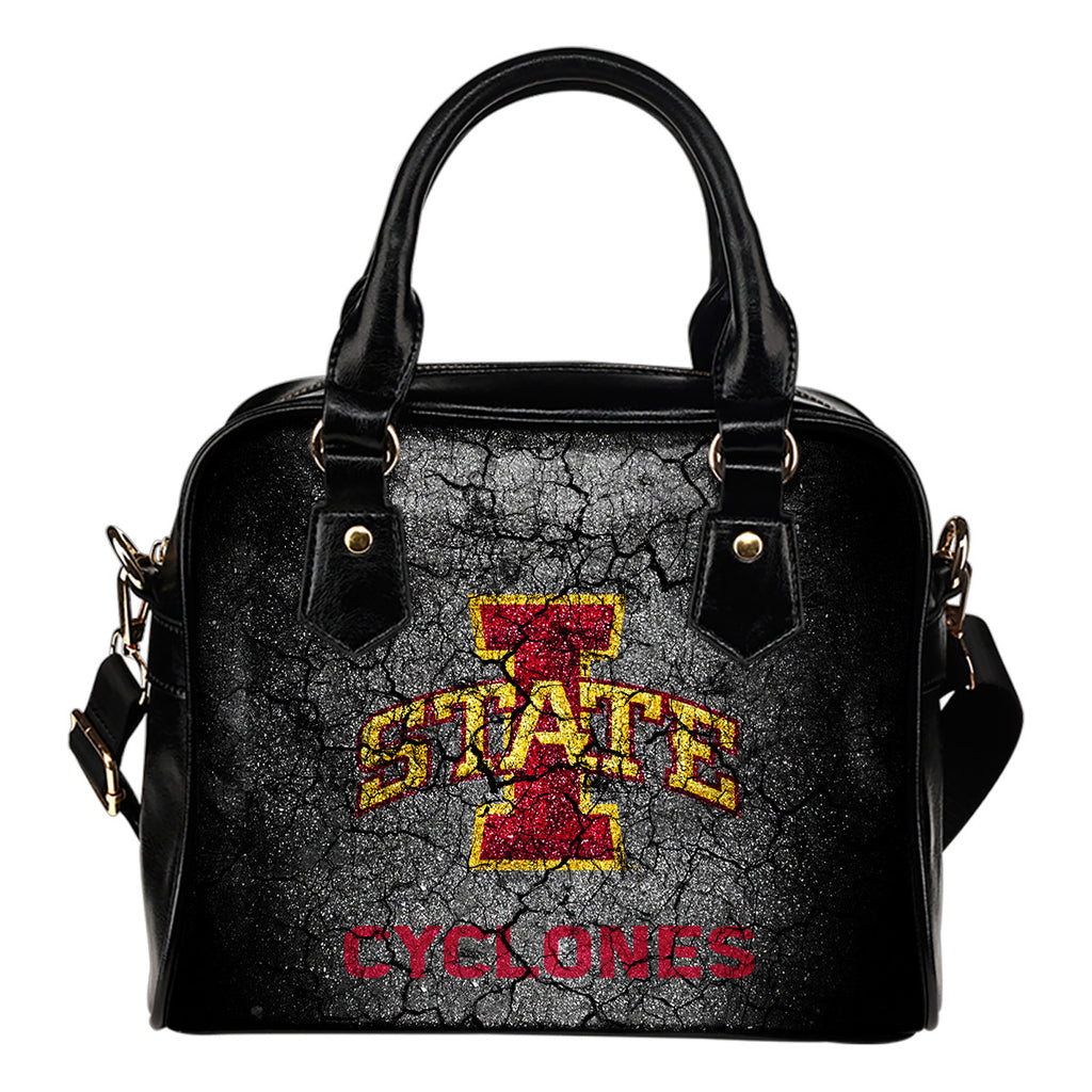 Wall Break Iowa State Cyclones Shoulder Handbags Women Purse