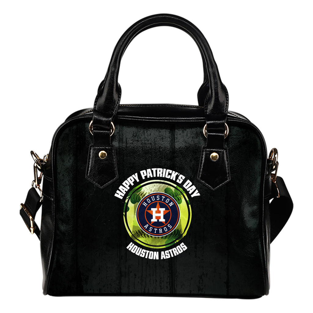Retro Scene Lovely Shining Patrick's Day Houston Astros Shoulder Handbags