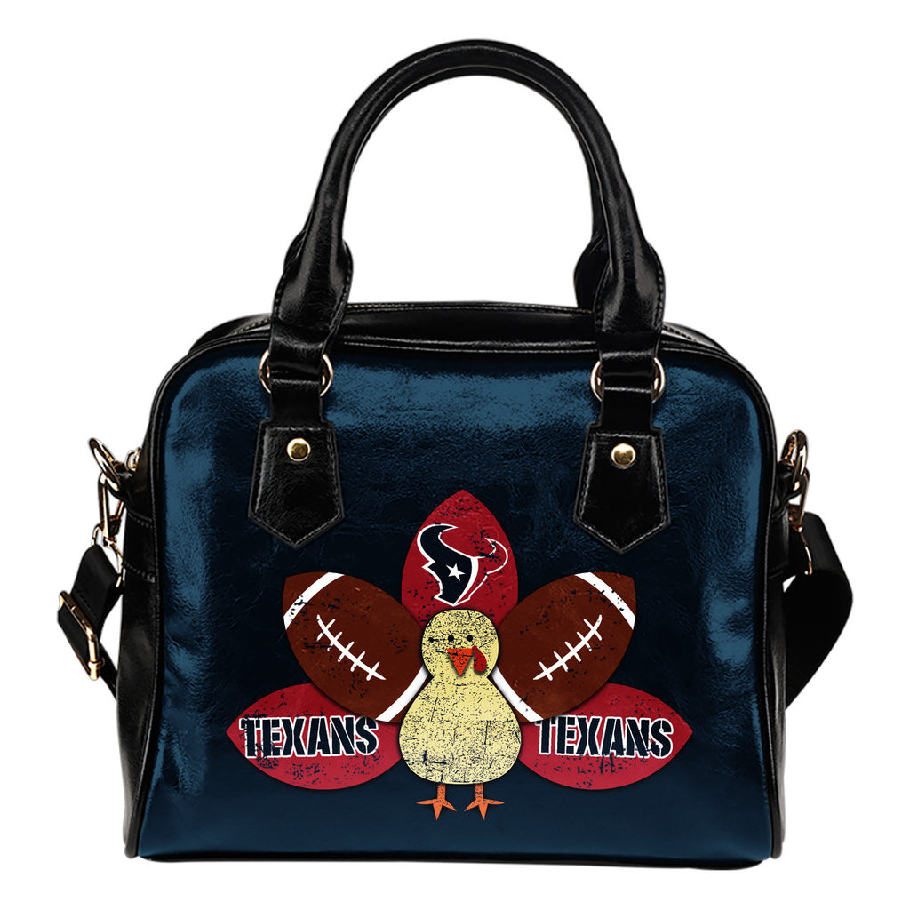 Thanksgiving Houston Texans Shoulder Handbags - Best Funny Store