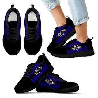 Doodle Line Amazing Baltimore Ravens Sneakers V2