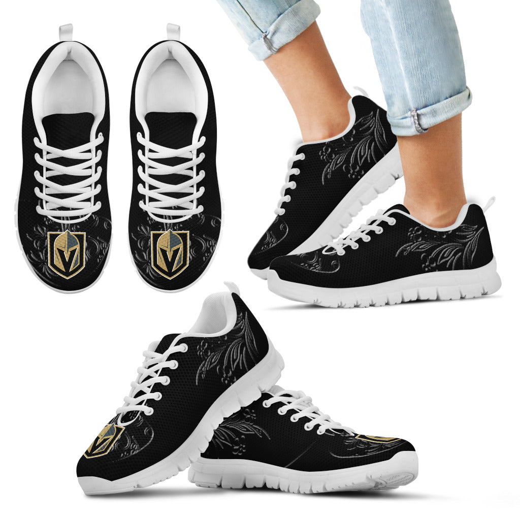 Lovely Floral Print Vegas Golden Knights Sneakers