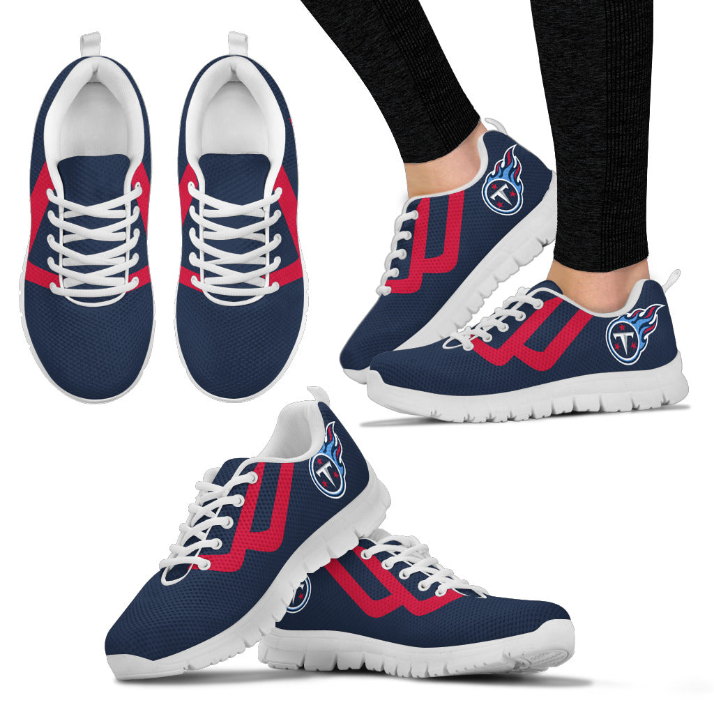 Line Bottom Straight Tennessee Titans Sneakers