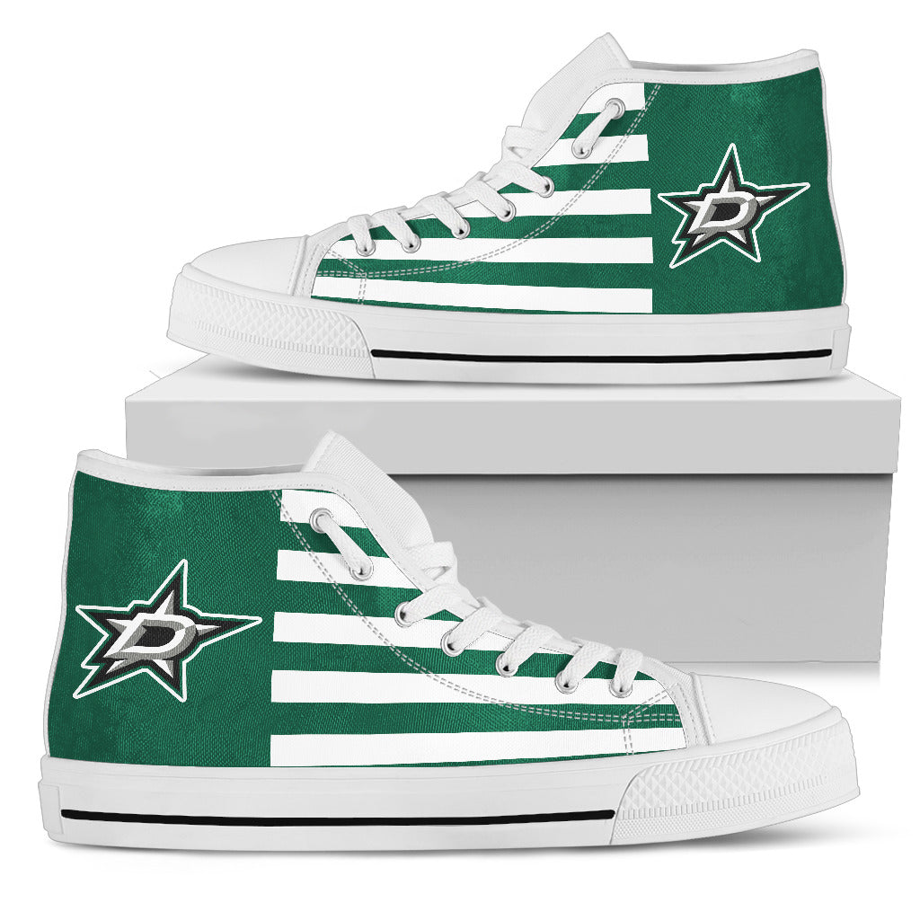 American Flag Dallas Stars High Top Shoes
