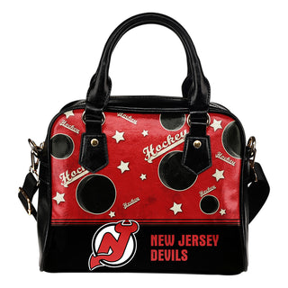 Personalized American Hockey Awesome New Jersey Devils Shoulder Handbag