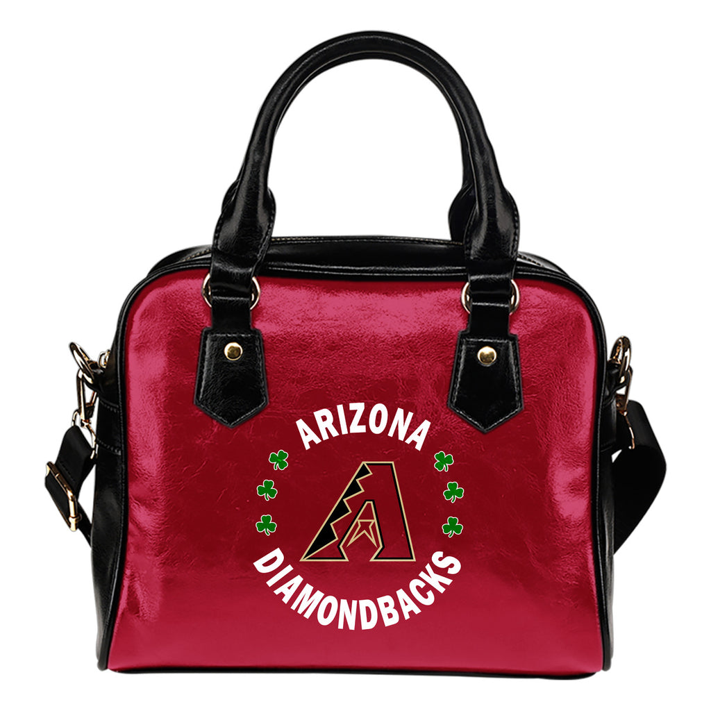Central Beautiful Logo Circle Lucky Leaf Arizona Diamondbacks Shoulder Handbags