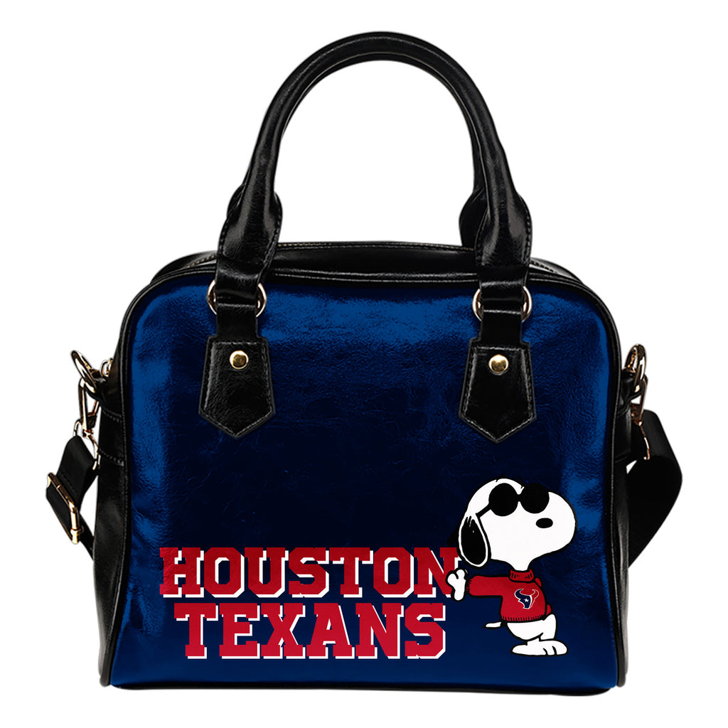 Houston Texans Cool Sunglasses Snoopy Shoulder Handbags Women Purse