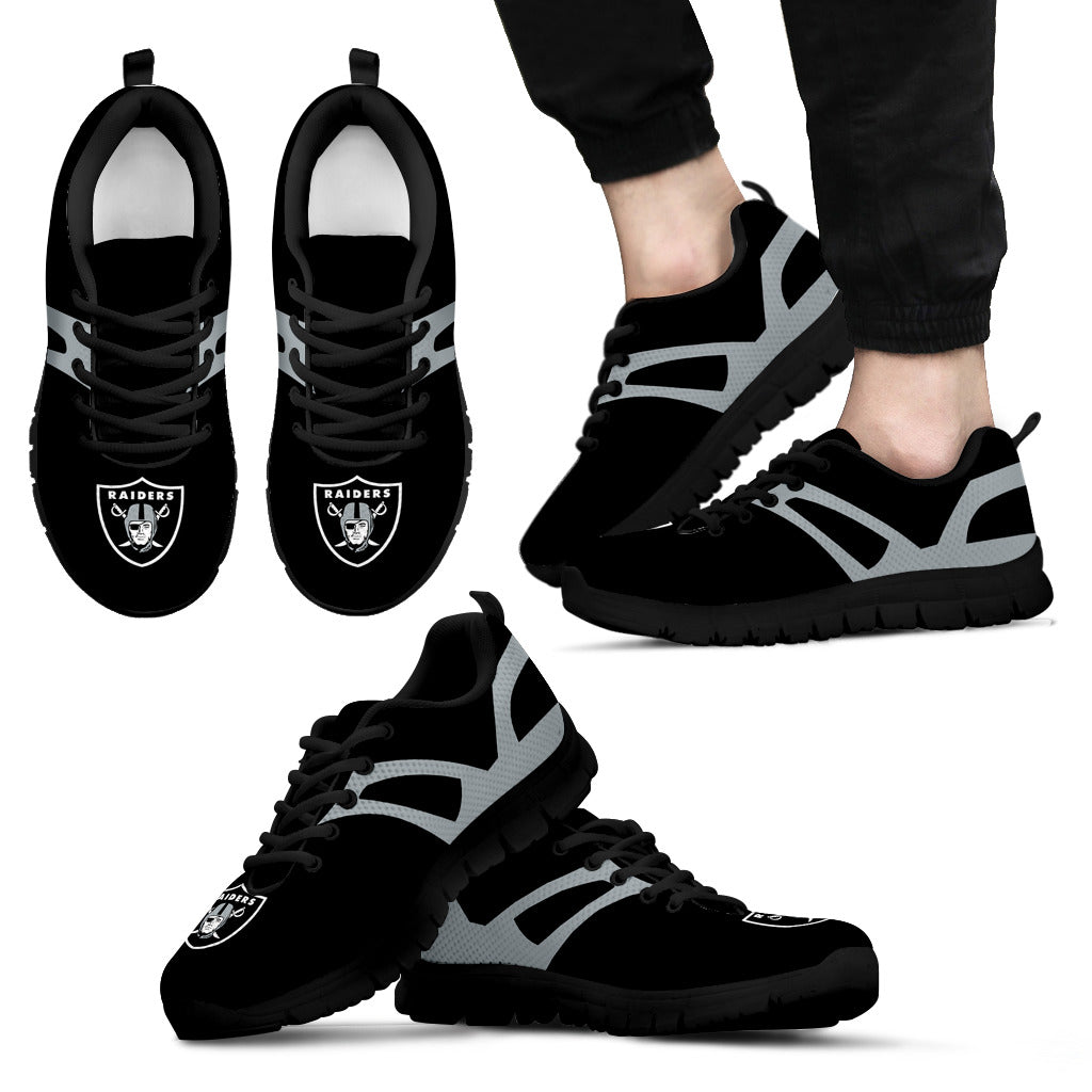 Line Amazing Bottom Oakland Raiders Sneakers