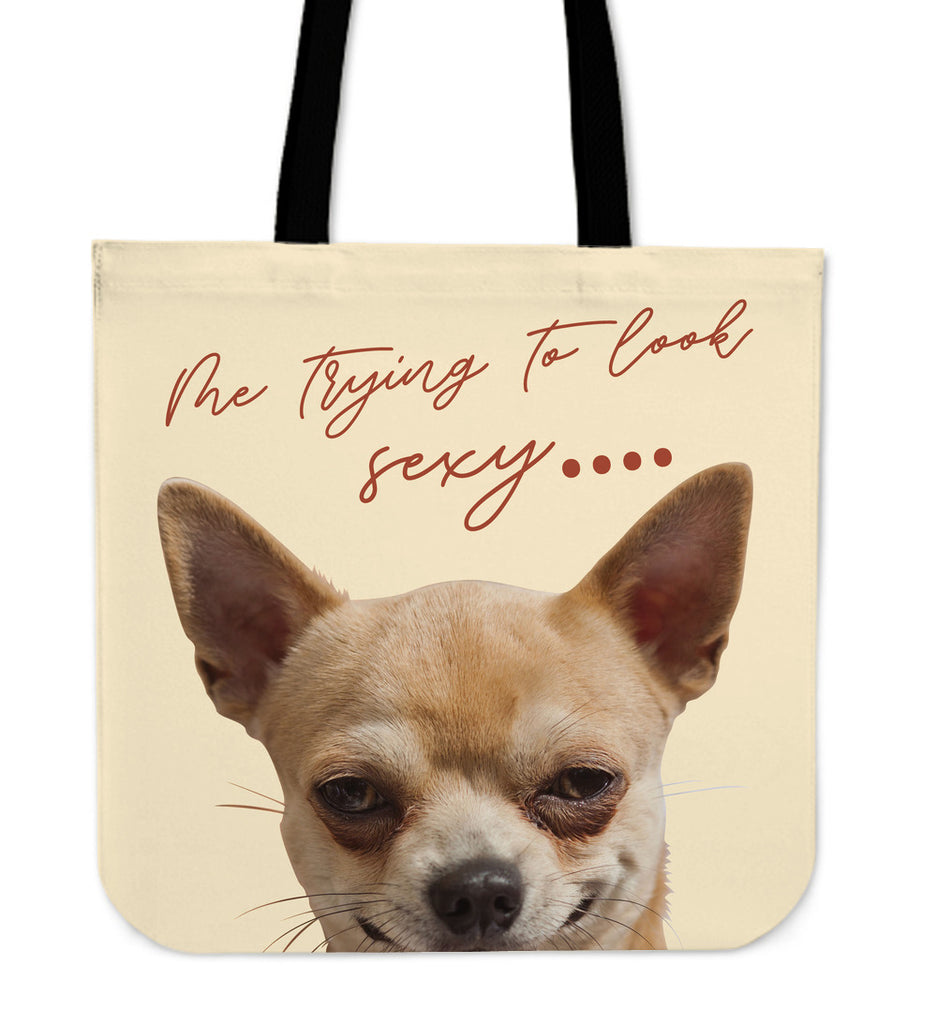 Look At Me Chihuahua Tote Bags