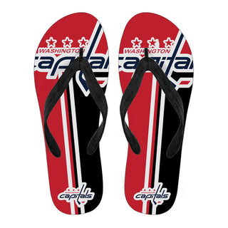 Washington Capitals Fan Gift Two Main Colors Flip Flops
