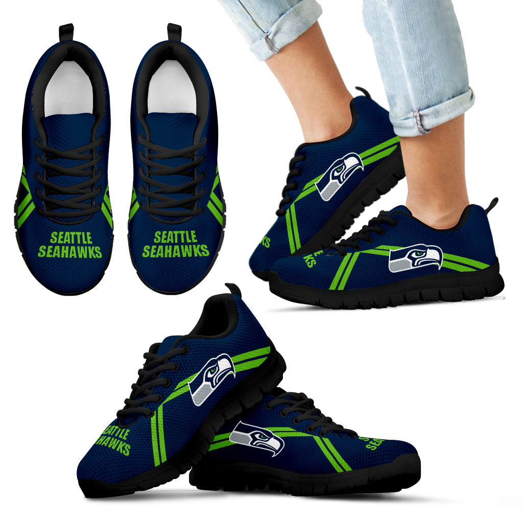 Seattle Seahawks Parallel Line Logo Sneakers
