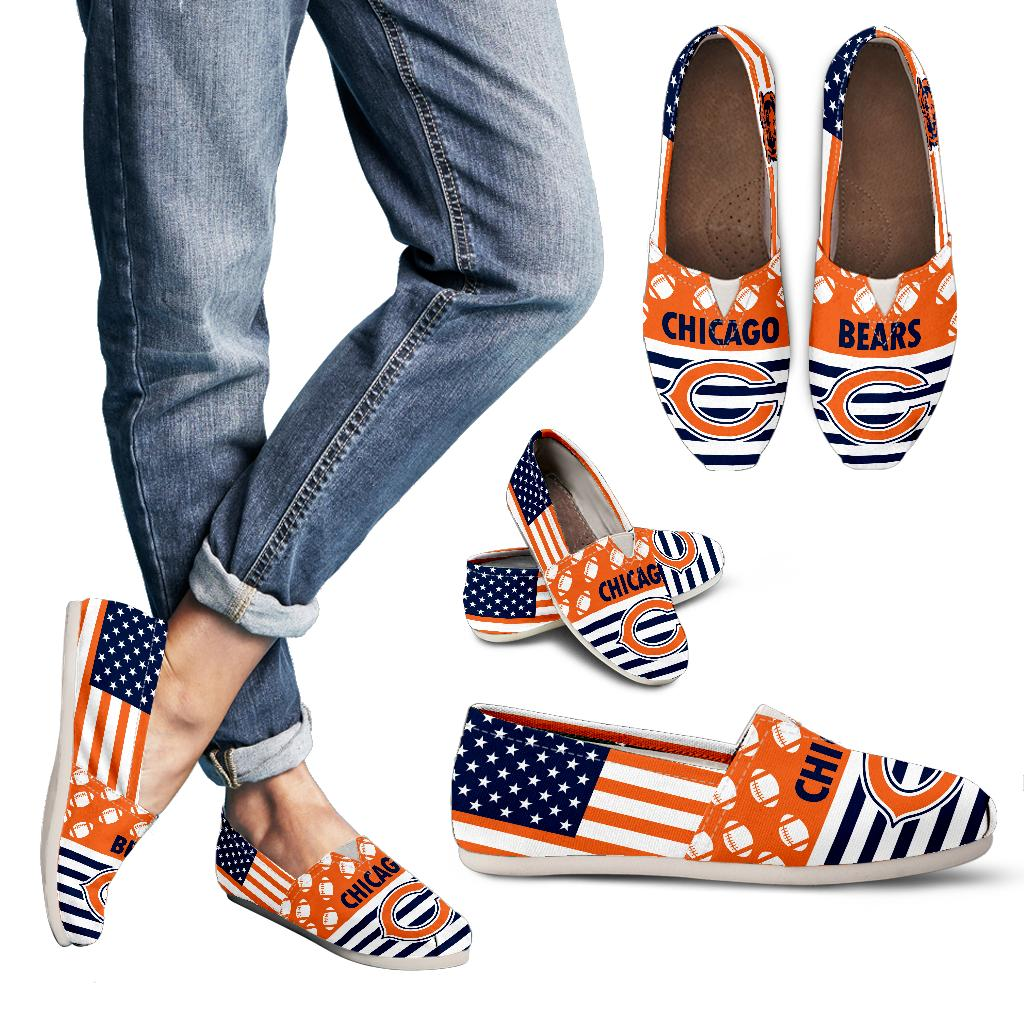 American Flag Chicago Bears Casual Shoes