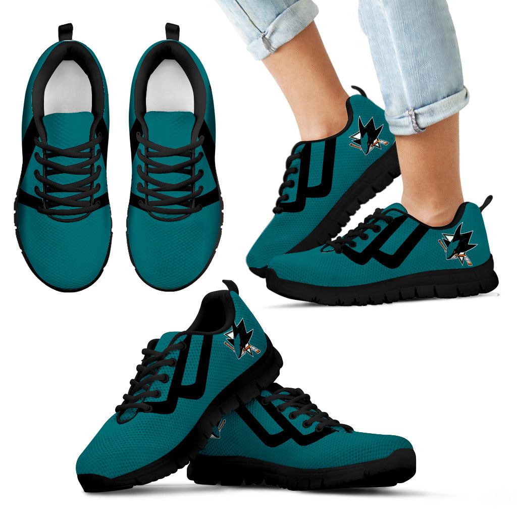 Line Bottom Straight San Jose Sharks Sneakers