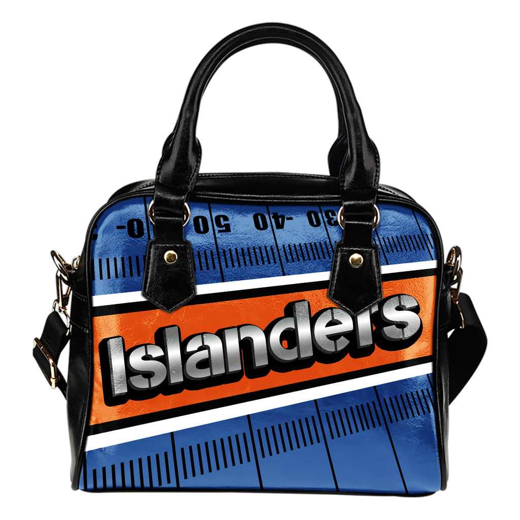 New York Islanders Silver Name Colorful Shoulder Handbags