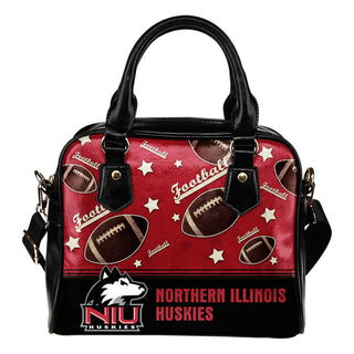 Personalized American Football Awesome Northern Illinois Huskies Shoulder Handbag