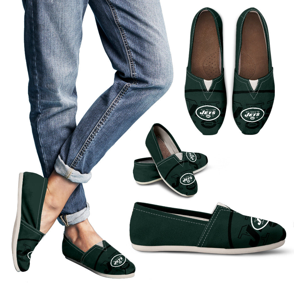 Enormous Logo Mix Tiny Logo Fantastic New York Jets Casual Shoes
