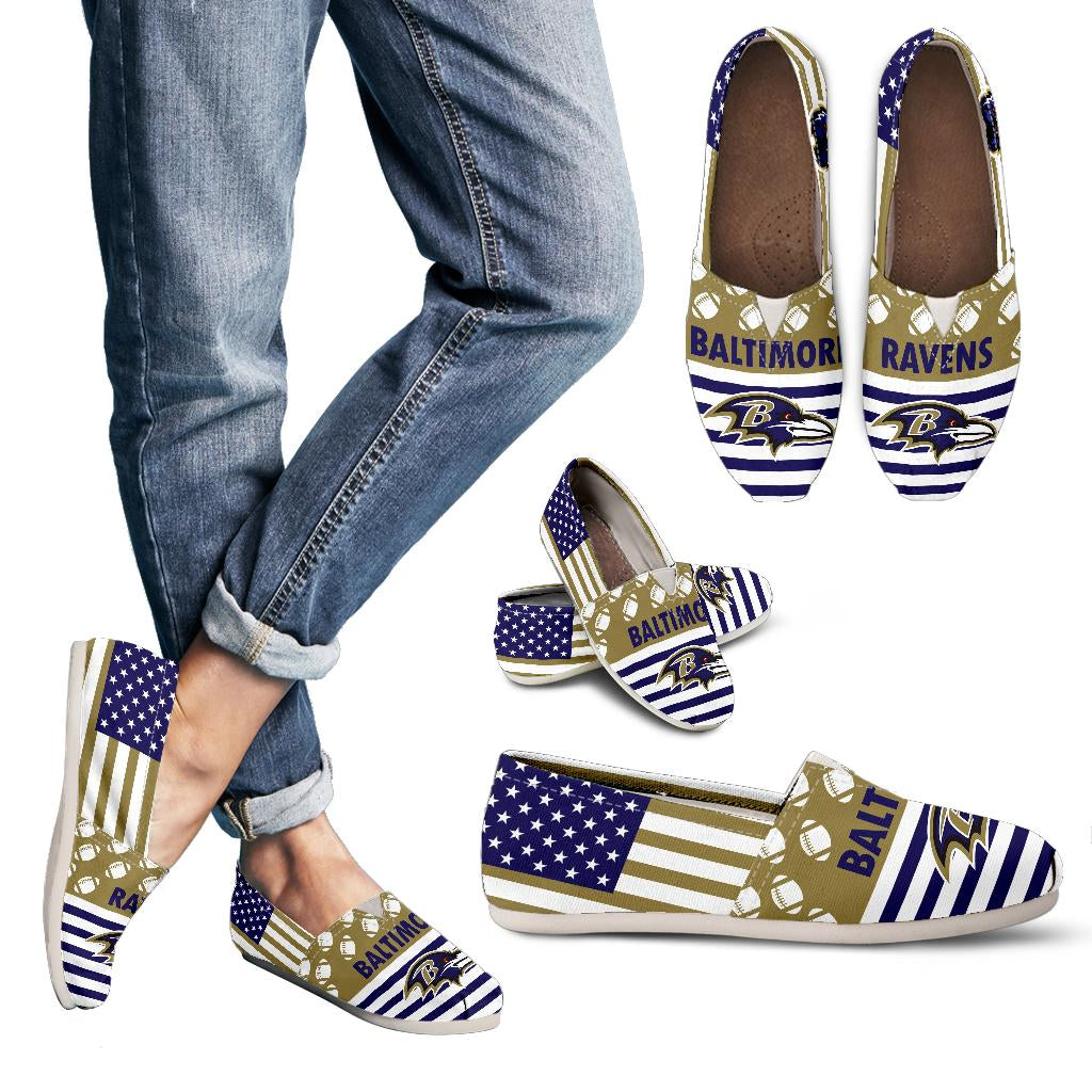 American Flag Baltimore Ravens Casual Shoes