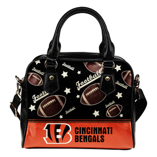 Personalized American Football Awesome Cincinnati Bengals Shoulder Handbag