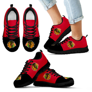 Two Colors Aparted Chicago Blackhawks Sneakers
