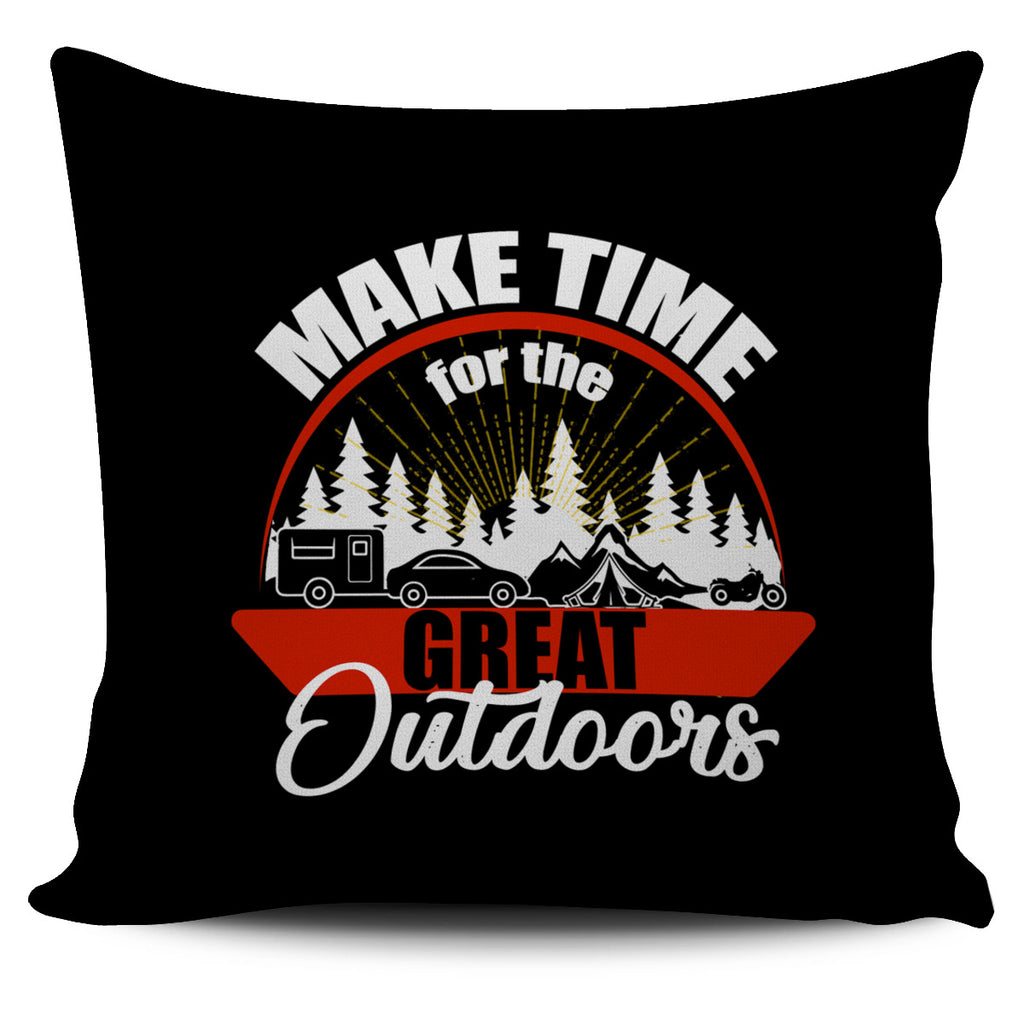 Make Time For The Great Outdoors Camping Pillow Covers