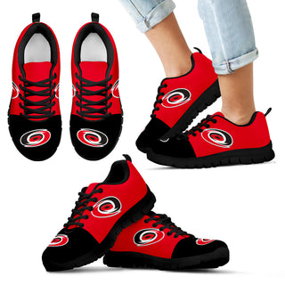 Two Colors Aparted Carolina Hurricanes Sneakers