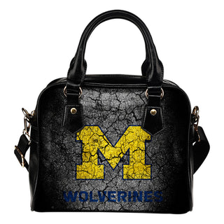 Wall Break Michigan Wolverines Shoulder Handbags Women Purse