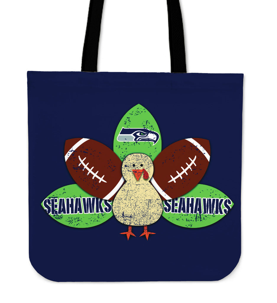 Thanksgiving Seattle Seahawks Tote Bags - Best Funny Store