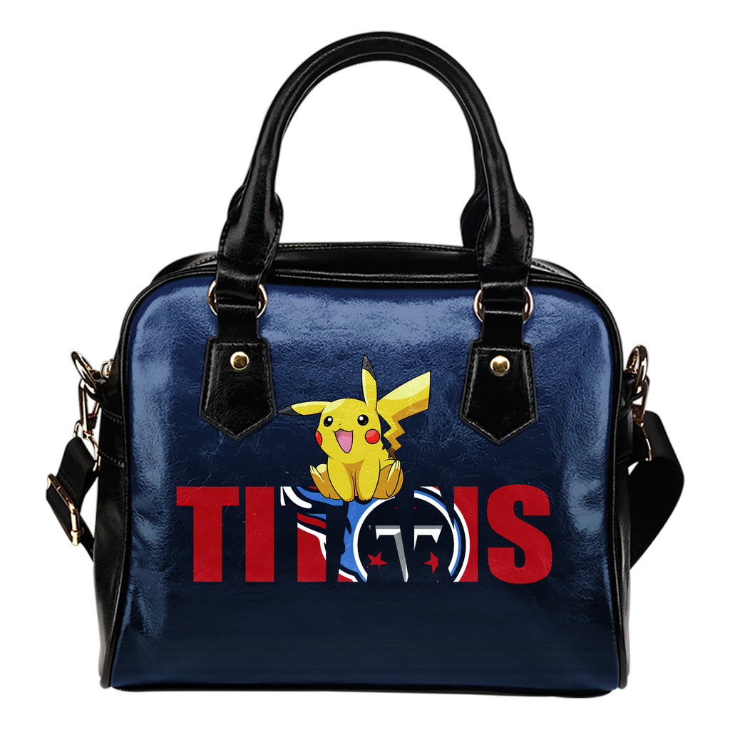 Pokemon Sit On Text Tennessee Titans Shoulder Handbags