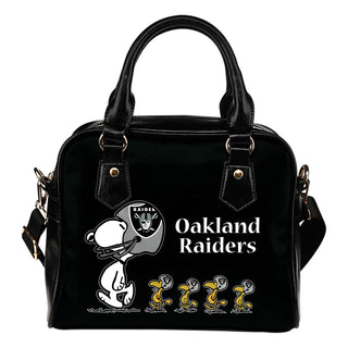Lovely Animal Team Oakland Raiders Shoulder Handbag