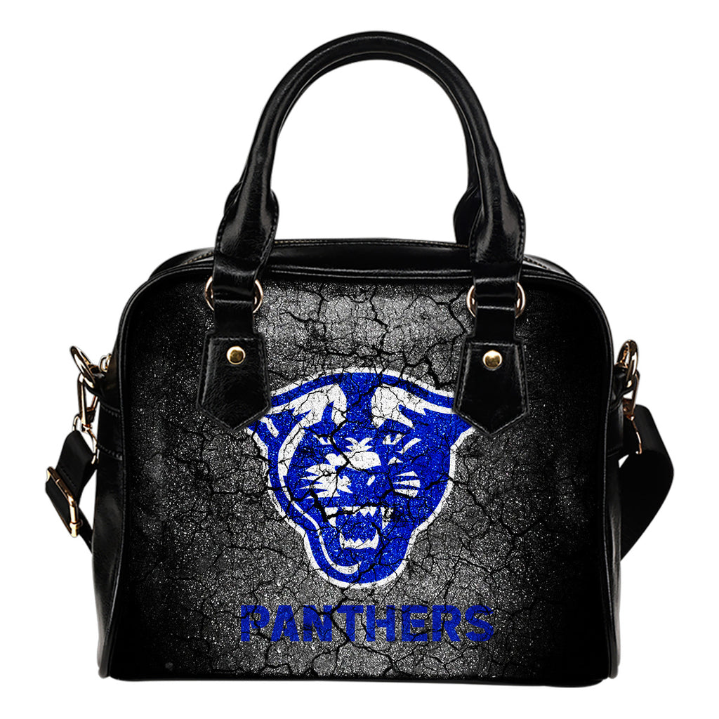 Wall Break Georgia State Panthers Shoulder Handbags Women Purse