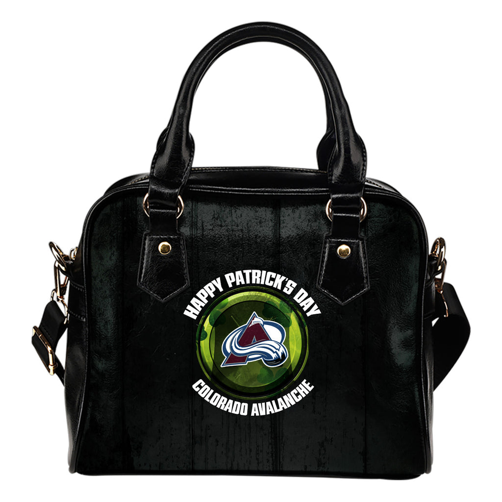 Retro Scene Lovely Shining Patrick's Day Colorado Avalanche Shoulder Handbags