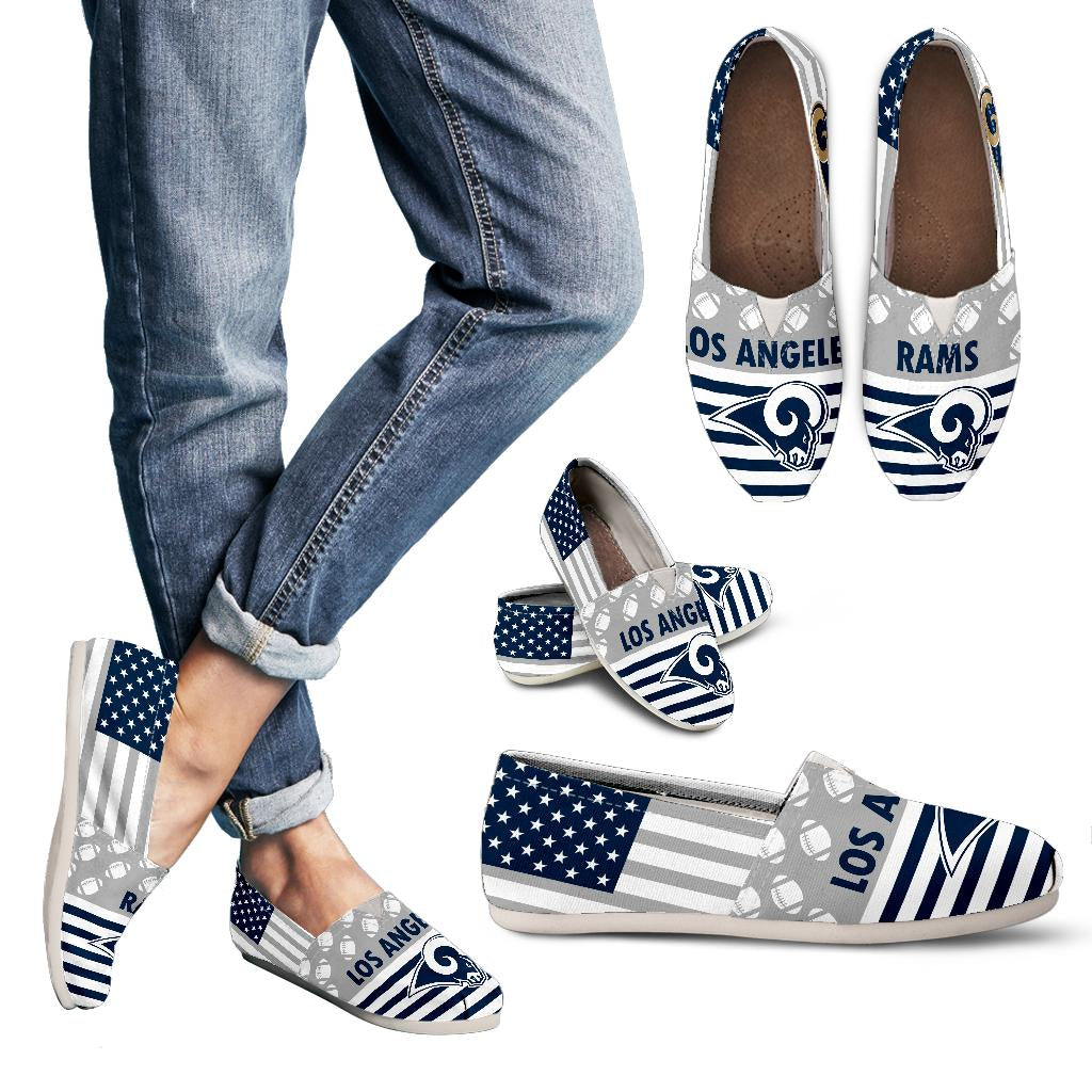 American Flag Los Angeles Rams Casual Shoes