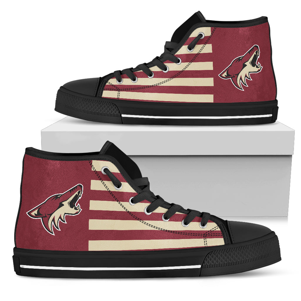 American Flag Arizona Coyotes High Top Shoes