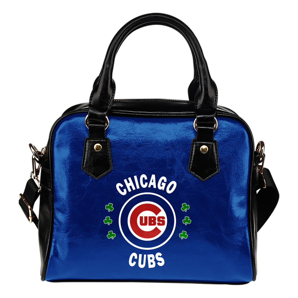 Central Beautiful Logo Circle Lucky Leaf Chicago Cubs Shoulder Handbags